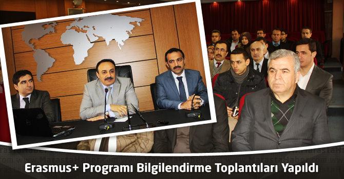 Erasmus+ Programı Bilgilendirme Toplantıları Yapıldı