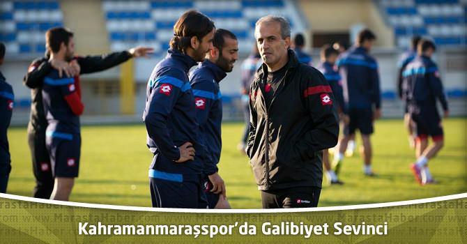 Kahramanmaraşspor'da Galibiyet Sevinci