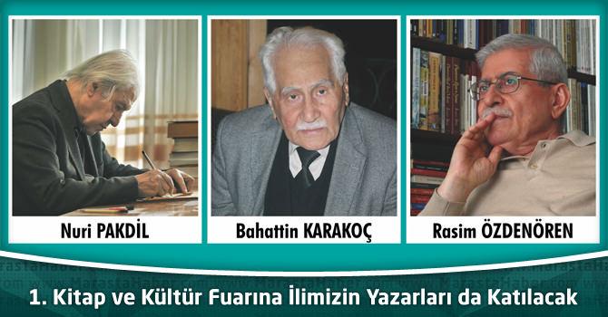 1. Kitap ve Kültür Fuarına İlimizin Yazarları da Katılacak