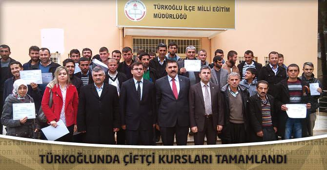 Türkoğlunda Çiftçi Kursları Tamamlandı