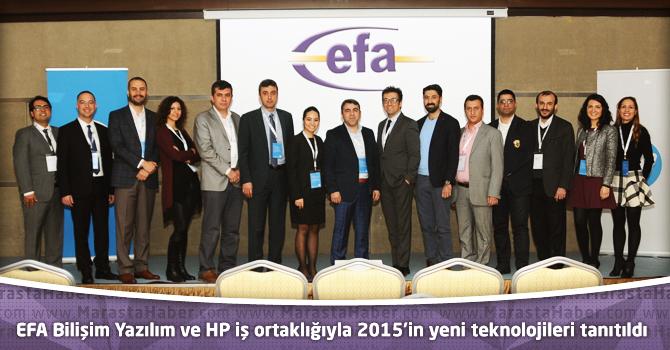 Efa Bilişim Yazılım Ve HP İş Ortaklığıyla 2015 İn Yeni Teknolojileri Tanıtıldı