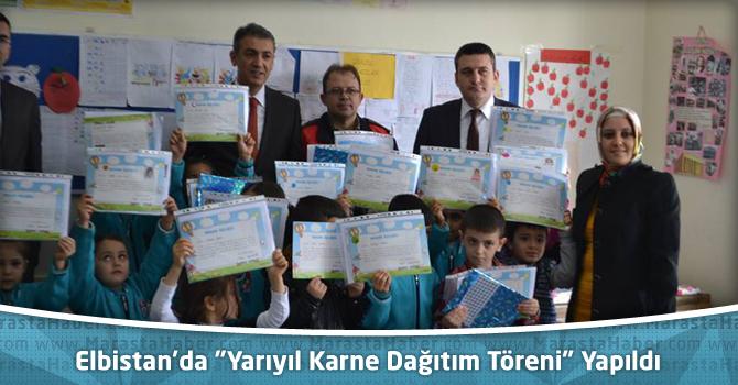 """Elbistan'da """"Yarıyıl Karne Dağıtım Töreni"""" Yapıldı"""