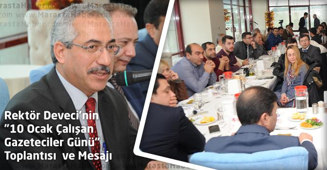 """Rektör Durmuş Deveci'nin """"10 Ocak Çalışan Gazeteciler Günü"""" Toplantısı  ve Mesajı"""