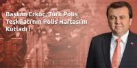 Kahramanmaraş Büyükşehir Belediye Başkanı Erkoç'tan Polis Haftası Mesajı