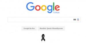 Google'dan Ankara'da hayatını kaybedenlerin anısına siyah kurdele!