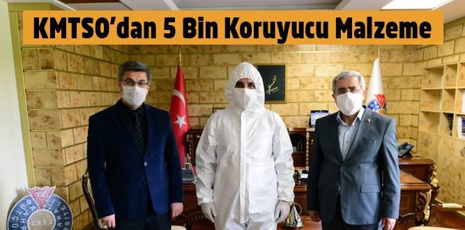 KMTSO'dan KSÜ Tıp Fakültesi Hastanesine 5 Bin Adet Koruyucu Malzeme
