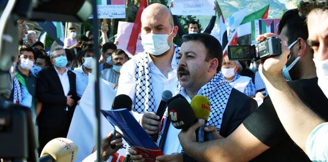 Kahramanmaraş'ta İsrail'in Yaptıkları Lanetlendi