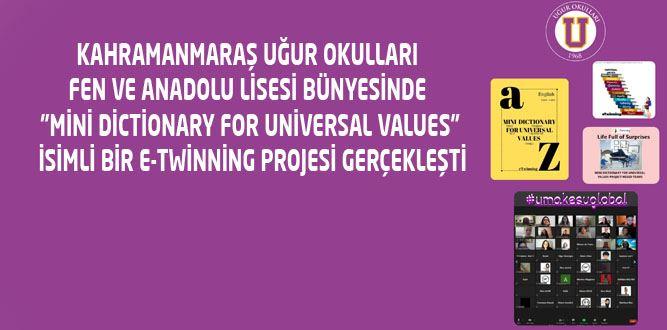"""Uğur Okullarından """"Mini Dictionary for Universal Values"""" Projesi"""
