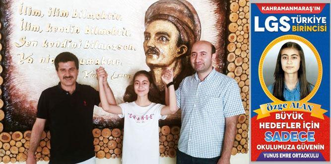 Kahramanmaraş'tan LGS' Türkiye Birincisi