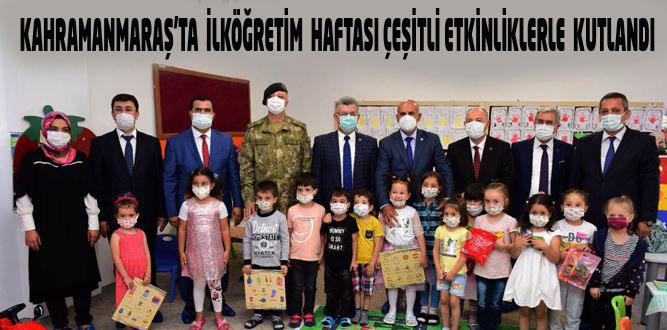 Kahramanmaraş'ta İlköğretim Haftası Coşku İle Kutlandı