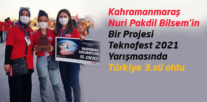 Nuri Pakdil BİLSEM'den Türkiye Üçüncülüğü